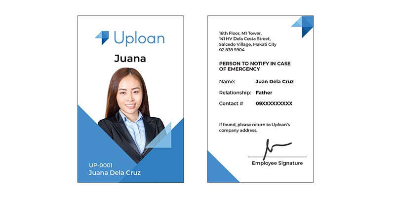 Company ID (front and back copy)